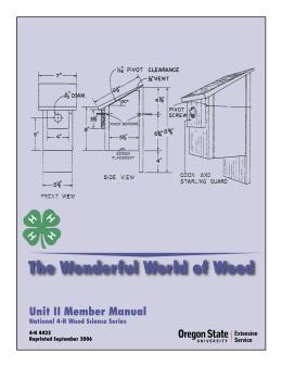 Image of The Wonderful World of Wood: Unit 2 Member Manual publication