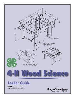Image of 4-H Wood Science Leader Guide publication