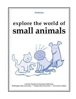 Image of Explore the World of Small Animals Leader Guide publication
