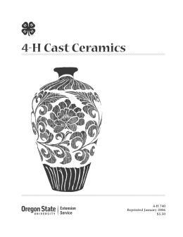 Image of 4-H Cast Ceramics publication
