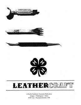 Image of 4-H Leathercraft Project Manual publication