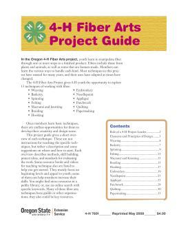 Image of 4-H Fiber Arts Project Guide publication