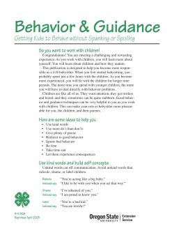 Image of Behavior and Guidance publication