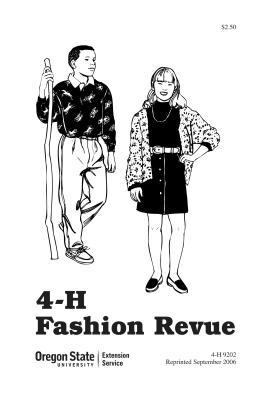 Image of 4-H Fashion Revue publication
