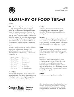 Image of Glossary of Food Terms publication