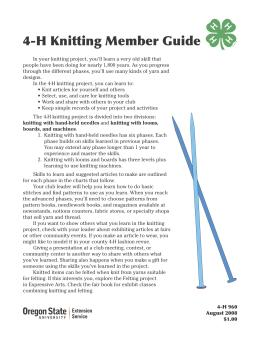 Image of 4-H Knitting Member Guide publication