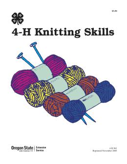 Image of 4-H Knitting Skills publication
