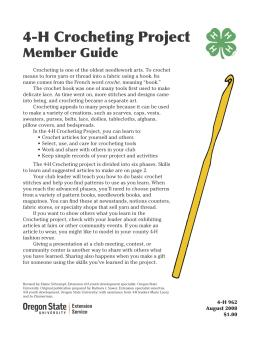 Image of 4-H Crocheting Project Member Guide publication