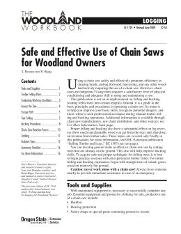 Image of Safe and Effective Use of Chain Saws for Woodland Owners publication