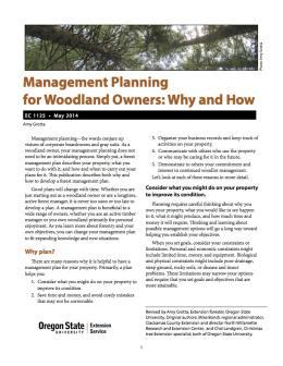 Image of Management Planning for Woodland Owners: Why and How publication