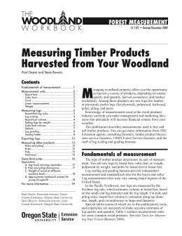 Image of Measuring Timber Products Harvested from Your Woodland publication