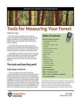The cover of Tools for Measuring Your Forest