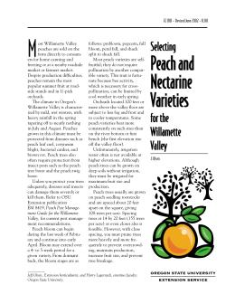 Image of Selecting Peach and Nectarine Varieties for the Willamette Valley publication