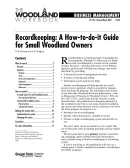 Image of Recordkeeping: A How-to-do-it Guide for Small Woodland Owners publication