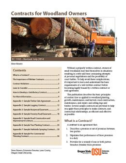 Image of Contracts for Woodland Owners publication