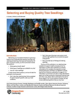 """Cover of """"Selecting and Buying Quality Seedlings"""""""