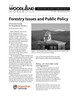 Image of Forestry Issues and Public Policy: An Action Guide for Woodland Owners publication