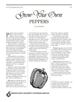 Image of Grow Your Own Peppers publication
