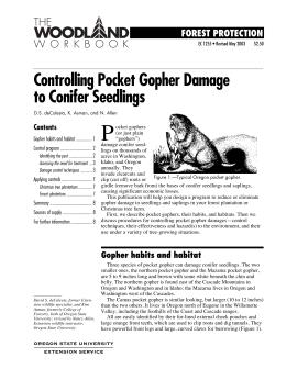 Image of Controlling Pocket Gopher Damage to Conifer Seedlings publication