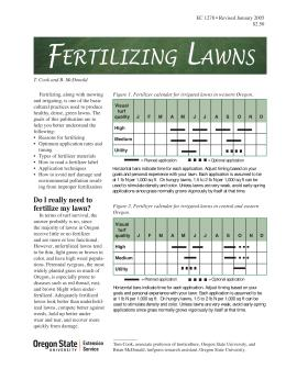Image of Fertilizing Lawns publication