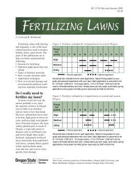 Image of Fertilizing Lawns publication
