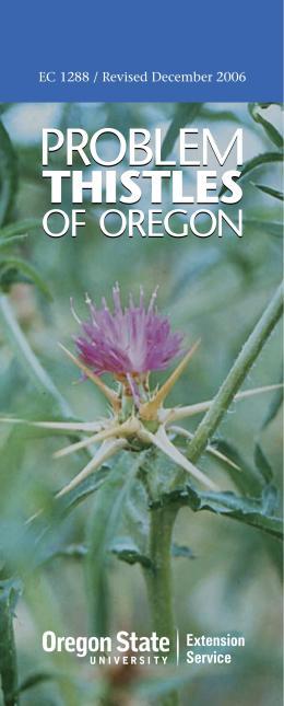 Image of Problem Thistles of Oregon publication