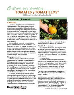 Image of Cultive sus Propios Tomates y Tomatillos publication
