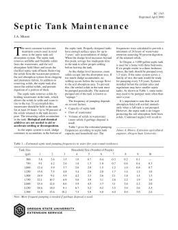 Image of Septic Tank Maintenance publication