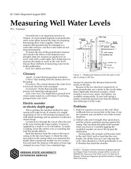 Image of Measuring Well Water Levels publication