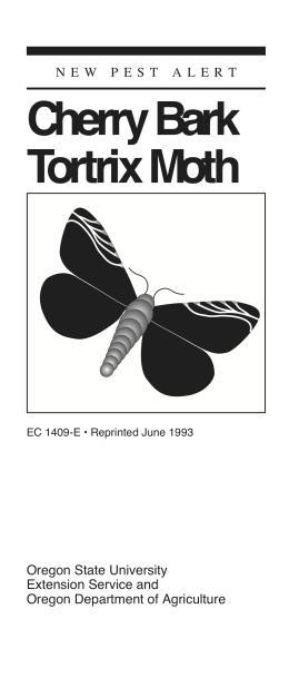 Image of New Pest Alert: Cherry Bark Tortrix Moth publication