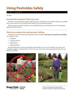Image of Using Pesticides Safely publication