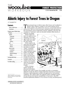Image of Abiotic Injury to Forest Trees in Oregon publication