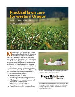 Image of Practical Lawn Care for Western Oregon publication