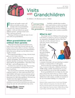 Image of Connecting the Generations: Visits with Grandchildren publication