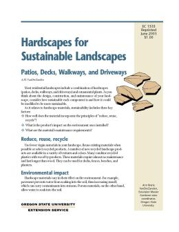 Image of Hardscapes for Sustainable Landscapes: Patios, Decks, Walkways, and Driveways publication