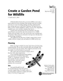 Image of The Wildlife Garden: Create a Garden Pond for Wildlife publication