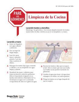 Image of Pare los Gérmenes: Limpieza de la Cocina publication