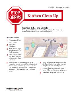 Image of Stop Germs: Kitchen Clean-Up publication