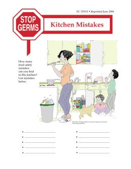 Image of Stop Germs: Kitchen Mistakes publication