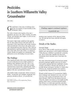 Image of Pesticides in Southern Willamette Valley Groundwater publication