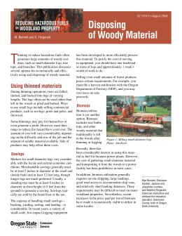 Image of Reducing Hazardous Fuels on Woodland Property: Disposing of Woody Material publication