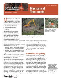 Image of Reducing Hazardous Fuels on Woodland Properties: Mechanical Fuels Reduction publication
