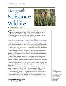 Image of Living with Nuisance Wildlife publication