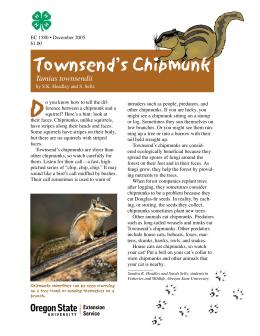 Image of Townsend's Chipmunk (Tamias townsendii) publication