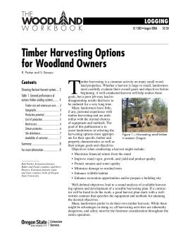 Image of Timber Harvesting Options for Woodland Owners publication