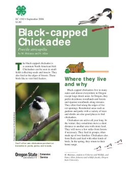 Image of The Wildlife Garden: Chickadee (Poecile atricapilla) publication