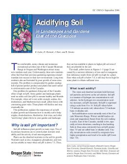 Image of Acidifying Soil in Landscapes and Gardens East of the Cascades publication