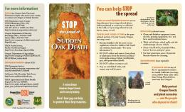 """Cover Image of  """"Stop the Spread of Sudden Oak Death"""""""