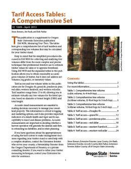 Image of Tarif Access Tables: A Comprehensive Set publication