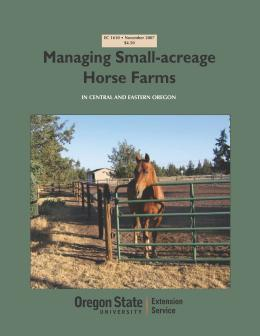 Image of Managing Small-Acreage Horse Farms in Central and Eastern Oregon publication